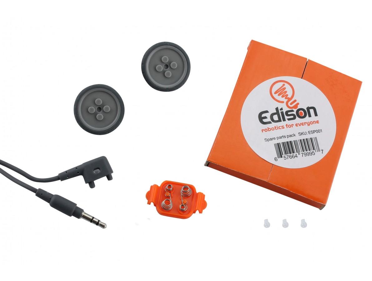 Kit Reparo Robô Edison V2.0 - Cabo USB + Rodas + Tampa Suporte Pilhas + Skid
