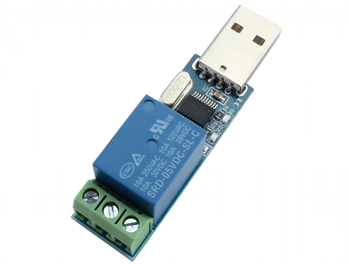 Módulo Relé 1 Canal USB com Conversor CH340