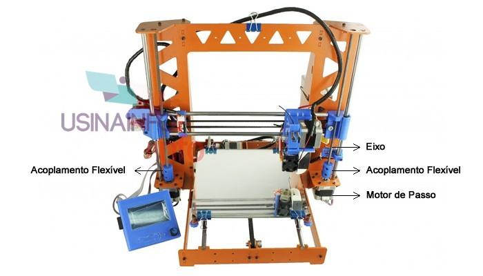 Acoplamento Flexível CNC para Motor de Passo 6.35X8mm