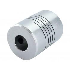 Acoplamento Flexível CNC 3D 5 x 8mm para Motor de Passo