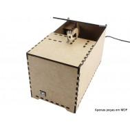 Case em MDF para Useless Box Caixa Inútil BS100 + Manual de Montagem