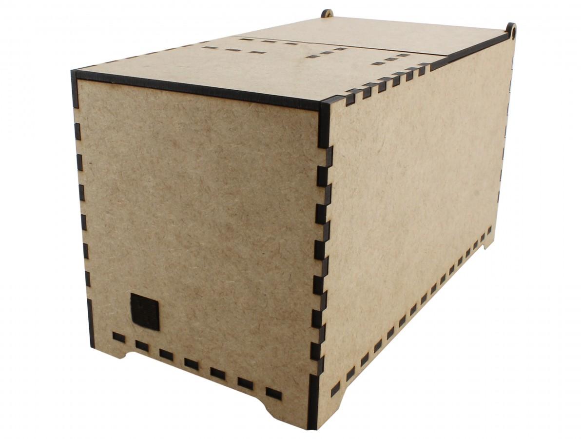 Case em MDF para Useless Box Caixa Inútil CBS100