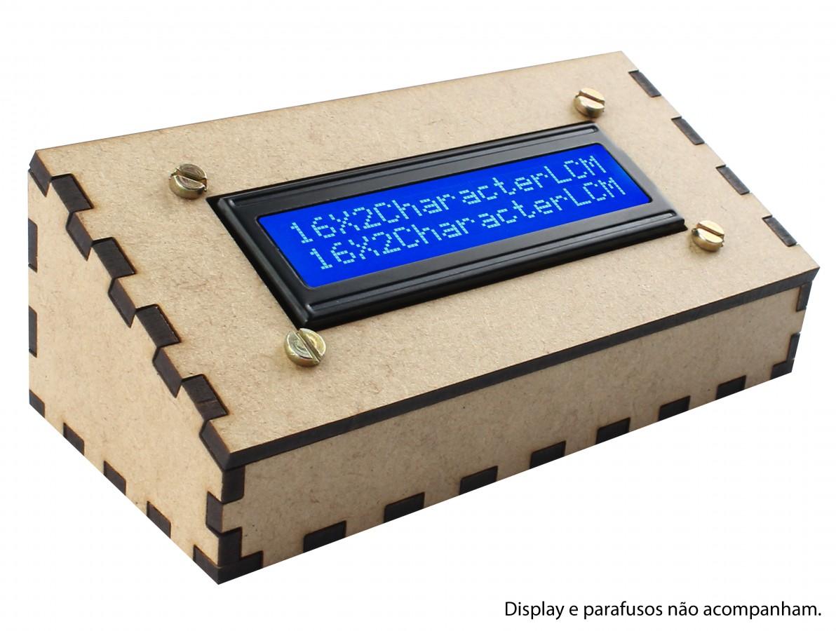 Suporte para Display 16x2 Case em MDF - SD162-1
