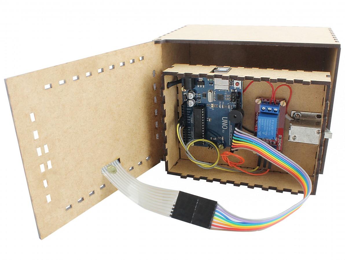 Cofre Arduino Digital Completo com Teclado - CA100