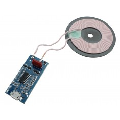 Módulo Carregador Sem Fio por Indução Qi WPC 5V 1A Universal com Micro USB - HW225