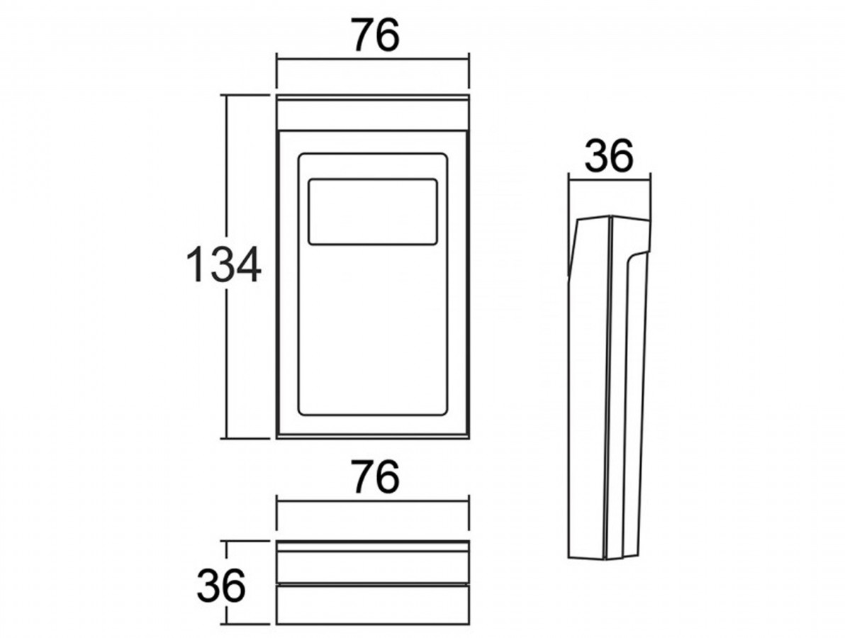 Caixa Patola / Case para Montagem 36 x 76 x 134 mm - CP-012 PA