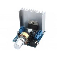 Mini Amplificador de Som TDA7297 Estéreo 2 Canais 15W + 15W