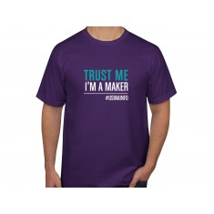 "Camiseta Maker ""Trust Me I'm a Maker"" - Roxa M"