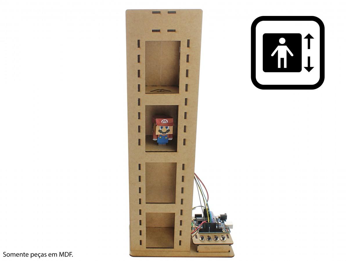 Estrutura em MDF para Elevador com Arduino EA50