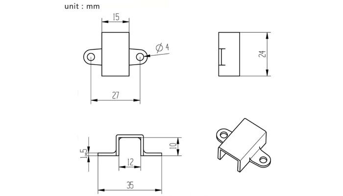 Suporte para Mini Motor N20 e N30