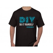 "Camiseta Maker ""DIY Do It Yourself"" - Preta P"