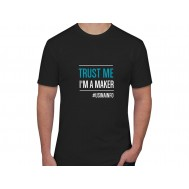 """Camiseta Maker """"Trust Me I'm a Maker"""" - Preta GG"""