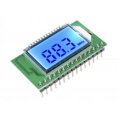"""Receptor FM PLL LCD 87-108MHZ com Tela de 1"""" - Compatível com Comando Serial"""