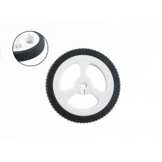 Roda 34mm Slim para Micromotor DC 12V N20 com Caixa de Redução