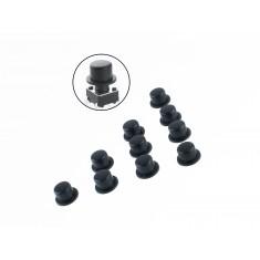 Capa para Push Button 6x6mm Preta - Kit com 10 Unidades