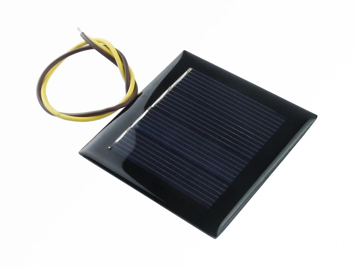 Mini Painel Solar 2V 100mA - 54x54mm