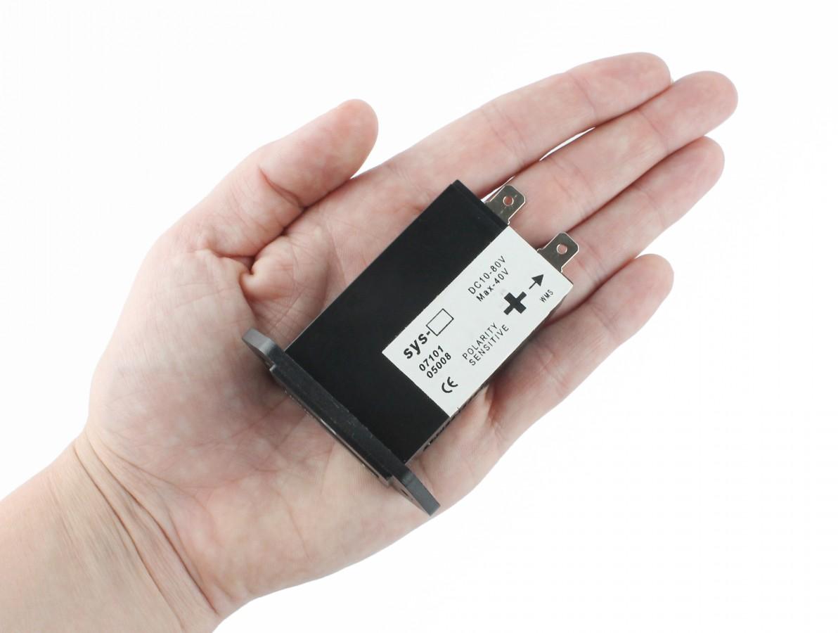 Horímetro Analógico 12V DC / Contador de Horas Eletromecânico 10-80VDC - SYS-2