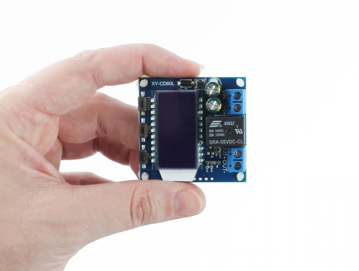 Controlador de Carga XY-CD60L para Bateria de Lítio e Chumbo 6V-60V