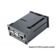 Case para Raspberry Pi 4 Modelo B em Acrílico Preto