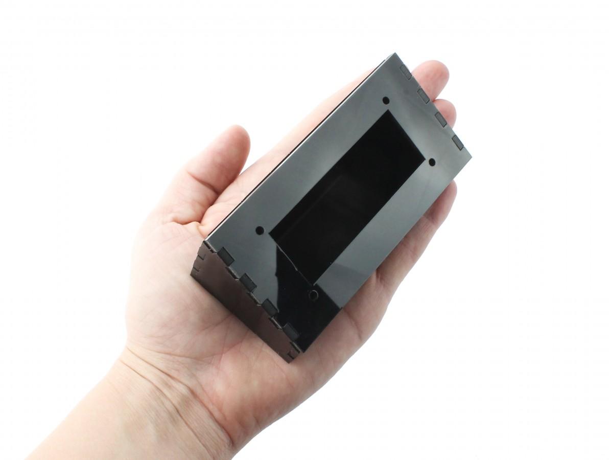 Suporte para Display 16x2 Case em Acrílico Preto - SDA162