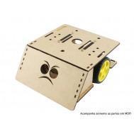 Chassi em MDF para Robô Sumo Zumo Robot RS100 V2 + Manual de Montagem