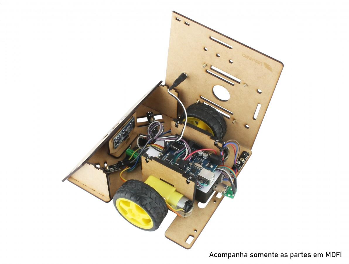 Chassi em MDF para Robô Sumo Zumo Robot RS100