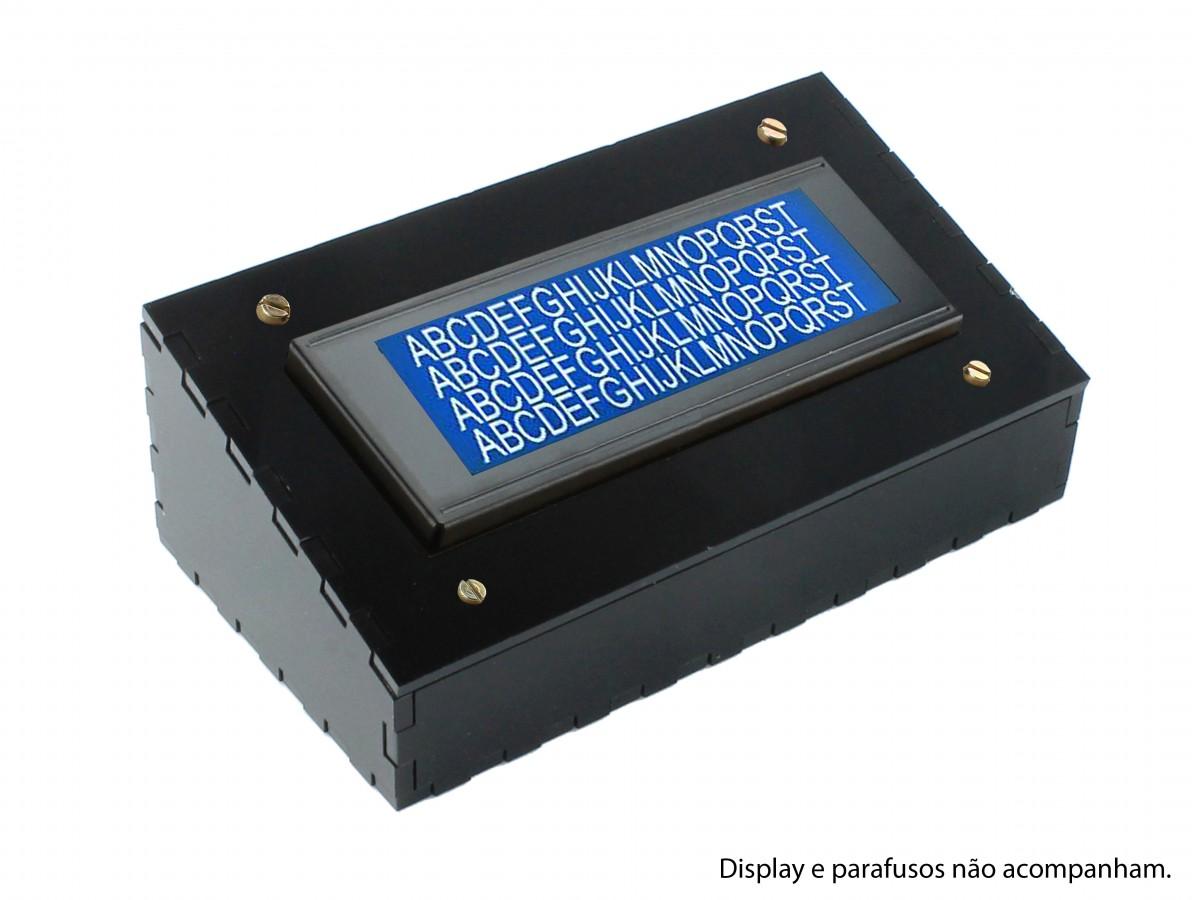 Suporte para Display 20x4 Case em Acrílico Preto - SDA204