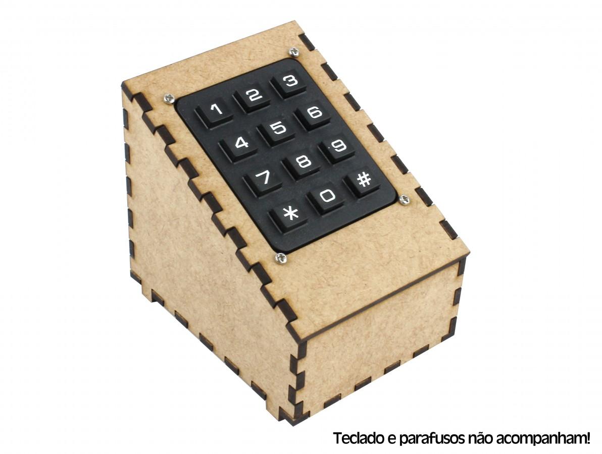 Suporte para Teclado Matricial 3x4 12 Teclas - Case Inclinado em MDF