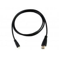 Cabo Micro HDMI para HDMI 1.4 1.5m Compatível com Celular e Raspberry PI 4