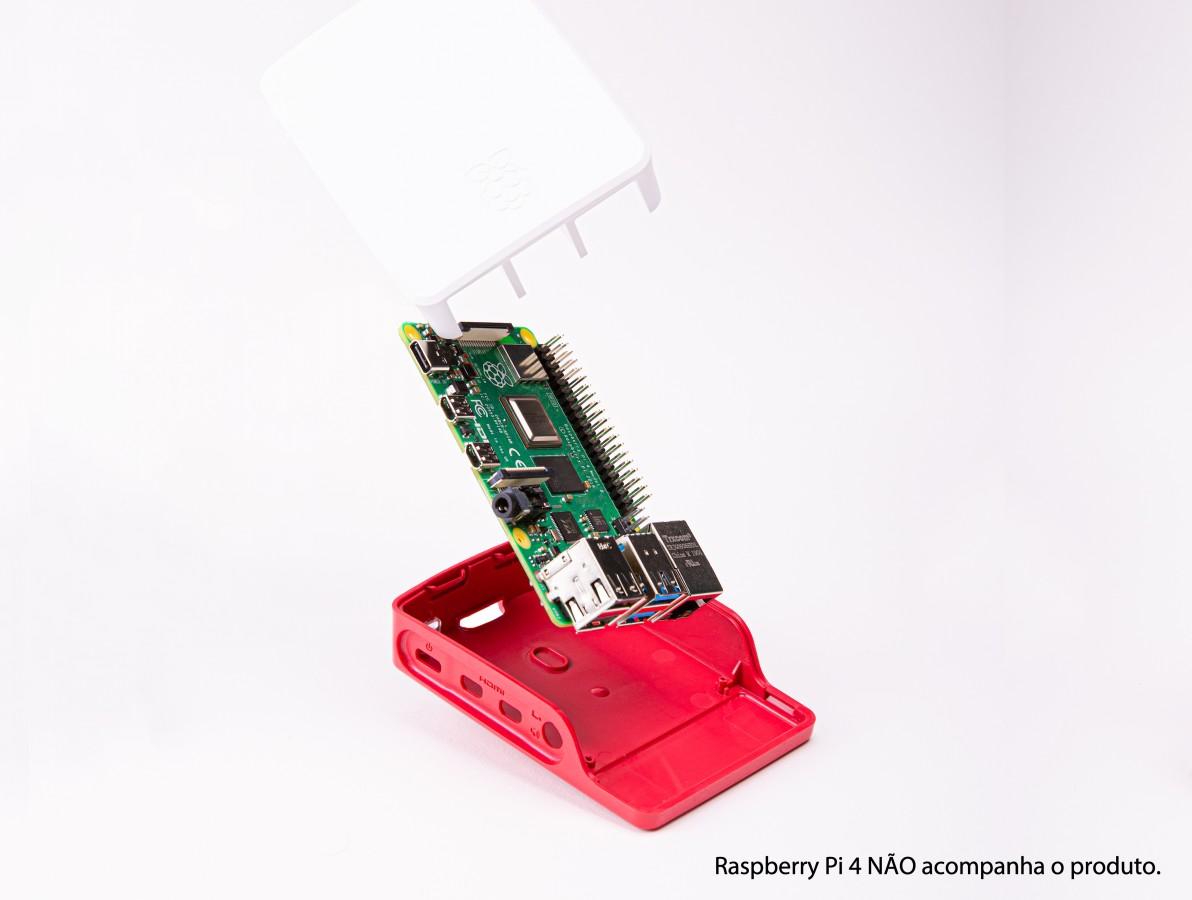 Case para Raspberry Pi 4 Oficial Cereja/Branco