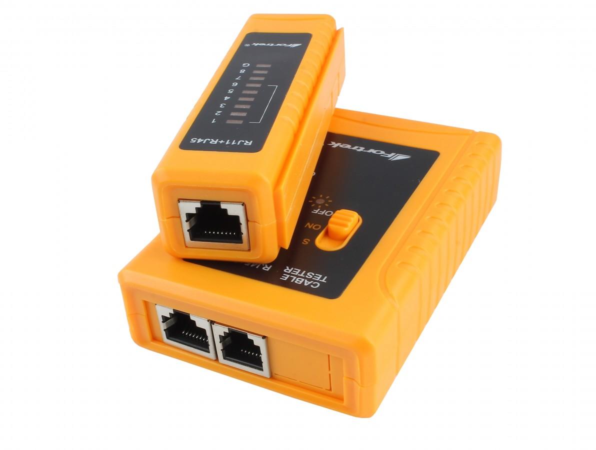 Testador de cabo de telefone e de rede RJ11 / RJ45 - NS468AT