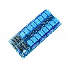 Módulo Relé 5V 10A 16 Canais com Optoacopladores