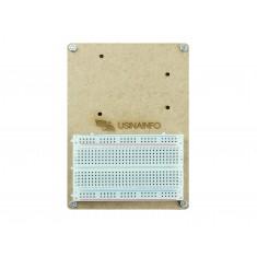 Base para Arduino em MDF com Protoboard + Parafusos Metálicos