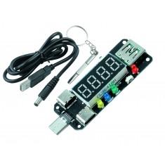 Módulo de Carga Rápida XY-WPDT Tipo-C PD com Display Digital, Voltímetro e Amperímetro