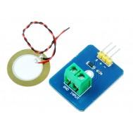 Sensor de Vibração e Toque Piezoelétrico 27mm Analógico