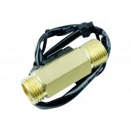 Sensor de Fluxo de Água YF-B7 G 1/2 1-25 l/min em Bronze com Sensor de Temperatura
