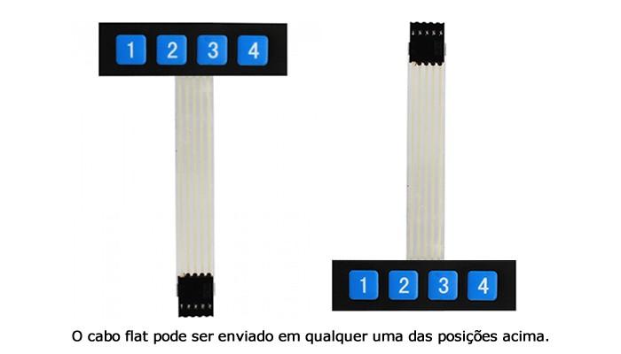 Teclado Matricial para Arduino - 04 teclas