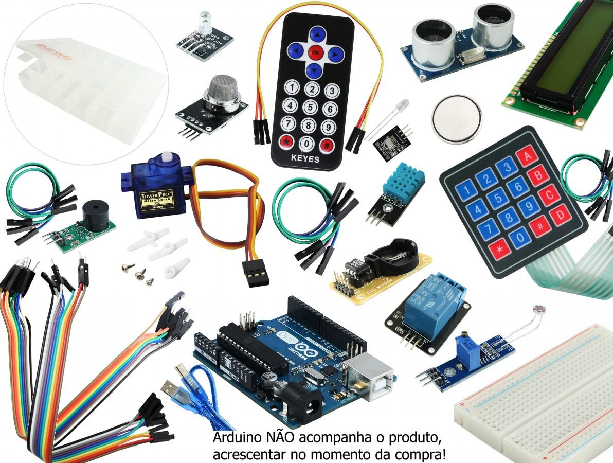 Kit Arduino Avançado + Arduino UNO R3 Original Itália - KS10
