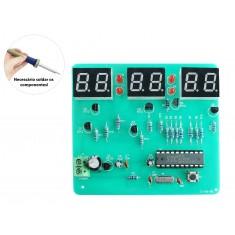 Kit Projeto Relógio Eletrônico Digital DIY STC11F02