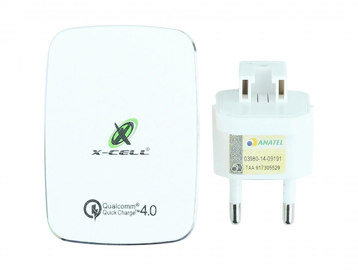 Fonte Chaveada 5V 5.1A USB 3.0 Tripla para Arduino, ESP32 / Carregador Ultra Rápido Universal QC4.0