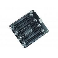 Carregador de Bateria 18650 Quádruplo com USB, Saída 5V / 3V e Proteção de Sobrecarga