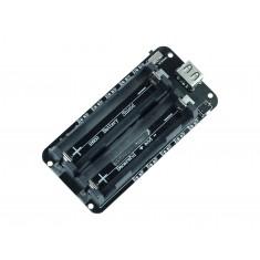 Carregador de Bateria 18650 Duplo com USB, Saída 5V / 3V e Proteção de Sobrecarga