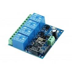 Módulo Relé 4 Canais 12V com ESP8266 Wifi IOT