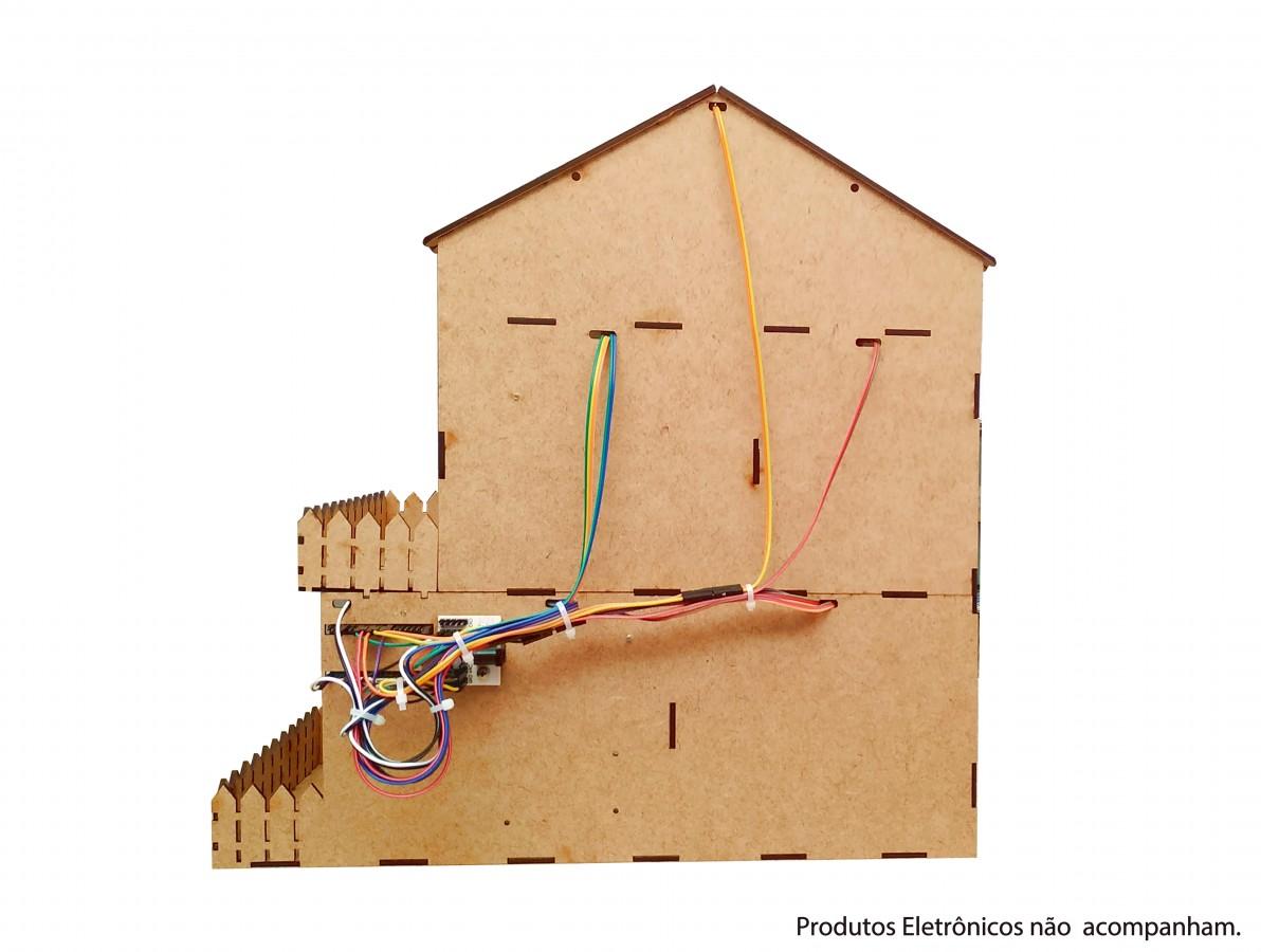 Estrutura em MDF para Casa Automatizada Domum com ESP32 ou Arduino