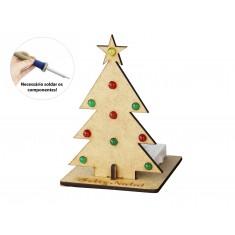 Kit Árvore de Natal MDF com Leds DIY Arbor para Aprendizagem Eletrônica
