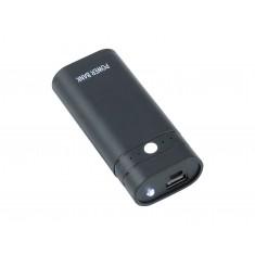 Power Bank 5V 1.2A USB para 2 Baterias 18650 Button-top com On/Off e Lanterna
