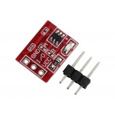 Sensor de Toque Capacitivo Arduino TTP223 Vermelho