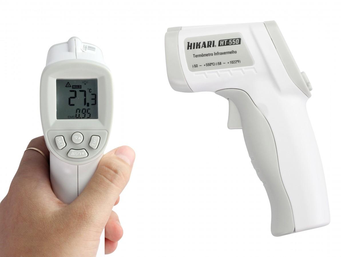 Termômetro Infravermelho Digital Hikari com Mira Laser