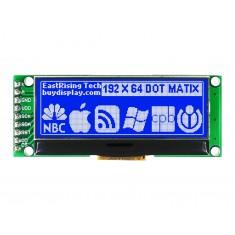 Display LCD 192x64 SPI 3.3V com Fundo Azul