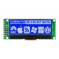 Display LCD 192x64 SPI 3.3V com Fundo Azul